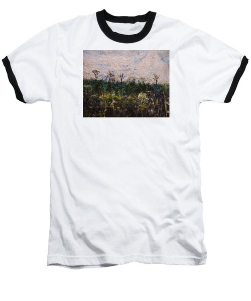 Baseball T-Shirt featuring the painting Pentimento by Ron Richard Baviello