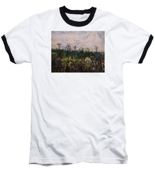 Pentimento Baseball T-Shirt by Ron Richard Baviello