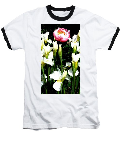 Peony And Iris Baseball T-Shirt