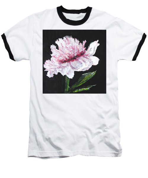 Peony Bloom Baseball T-Shirt by Betty-Anne McDonald