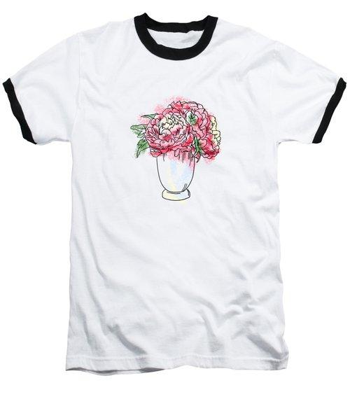 Peony In Vase Baseball T-Shirt