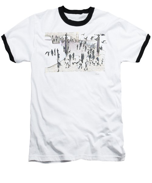 People And Birds, 19 December, 2015 Baseball T-Shirt by Tatiana Chernyavskaya