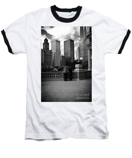 People And Skyscrapers Baseball T-Shirt