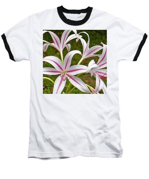 Peppermint Lilies Baseball T-Shirt
