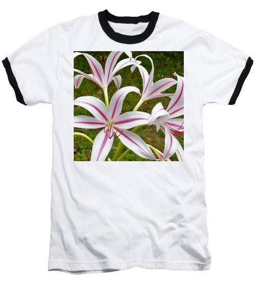 Peppermint Lilies Baseball T-Shirt