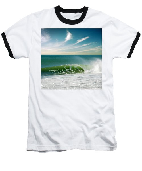 Perfect Wave Baseball T-Shirt by Carlos Caetano