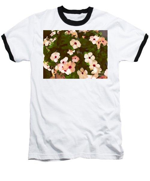 Periwinkle Baseball T-Shirt by David Blank