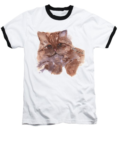 Persian Cat By Kmcelwaine Baseball T-Shirt by Kathleen McElwaine