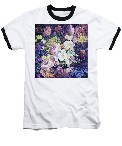 Baseball T-Shirt featuring the painting Petals by Joanne Smoley