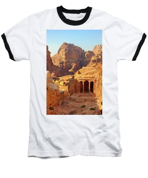 Petra Buildings, Pond And Gardens Complex Baseball T-Shirt by Nicola Nobile