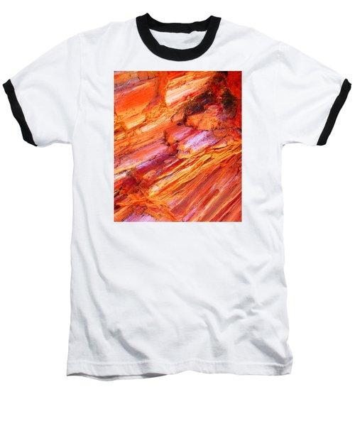 Petrified Abstraction No 1 Baseball T-Shirt by Andreas Thust