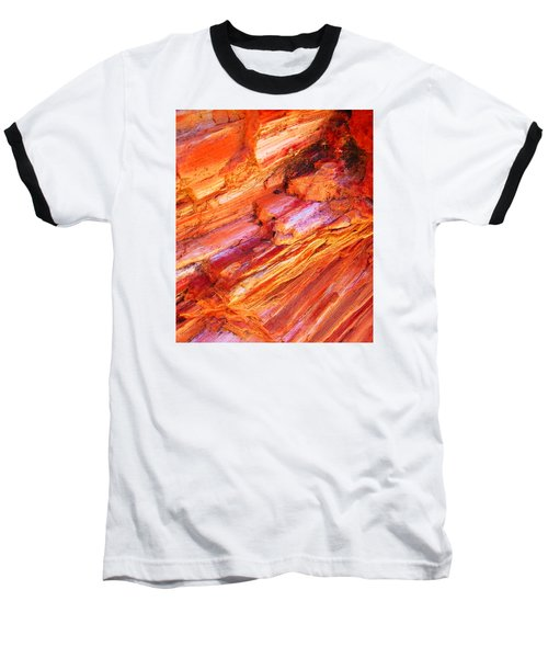 Petrified Abstraction No 1 Baseball T-Shirt