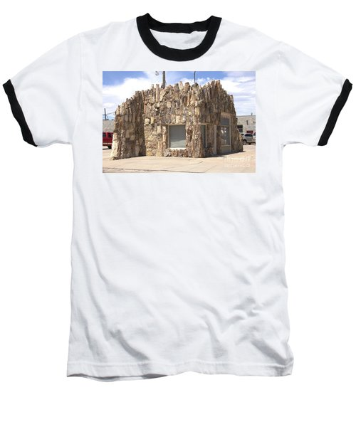 Petrified Wood Building Baseball T-Shirt