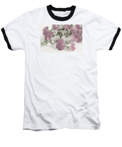 Petunias And Perfume - Soft Baseball T-Shirt by Sandra Foster