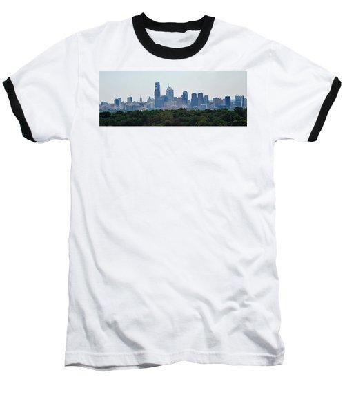 Philadelphia Green Skyline Baseball T-Shirt