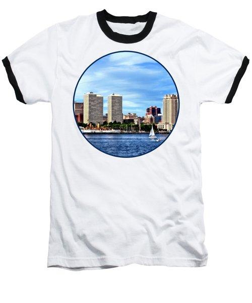 Philadelphia Pa Skyline Baseball T-Shirt