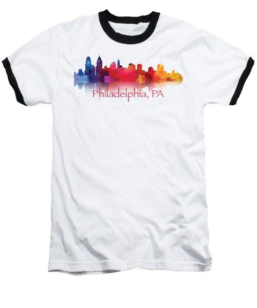 philadelphia PA Skyline TShirts and Apparal Baseball T-Shirt by Loretta Luglio