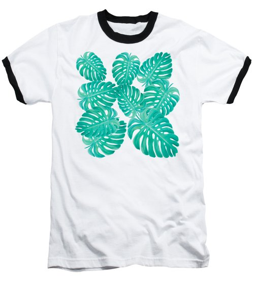 Philodendron Leaves Baseball T-Shirt