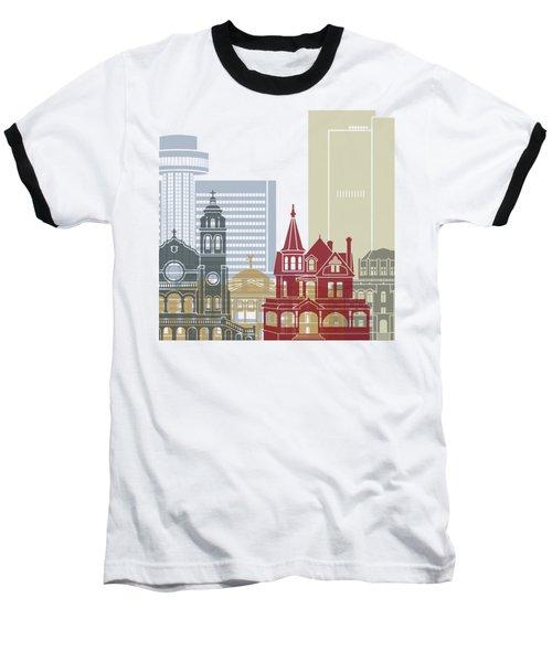 Phoenix Skyline Poster Baseball T-Shirt