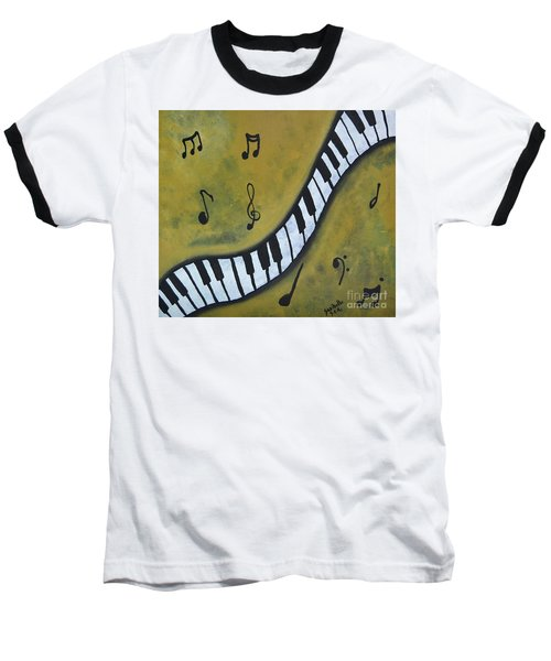 Piano Music Abstract Art By Saribelle Baseball T-Shirt