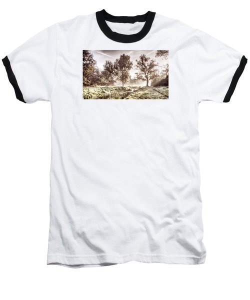 Pictorial Autumn Landscape Artistic Picture Baseball T-Shirt by Odon Czintos