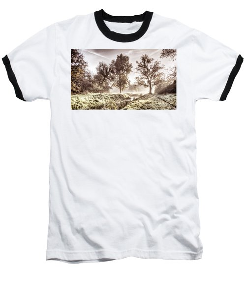 Pictorial Autumn Landscape Artistic Picture Baseball T-Shirt