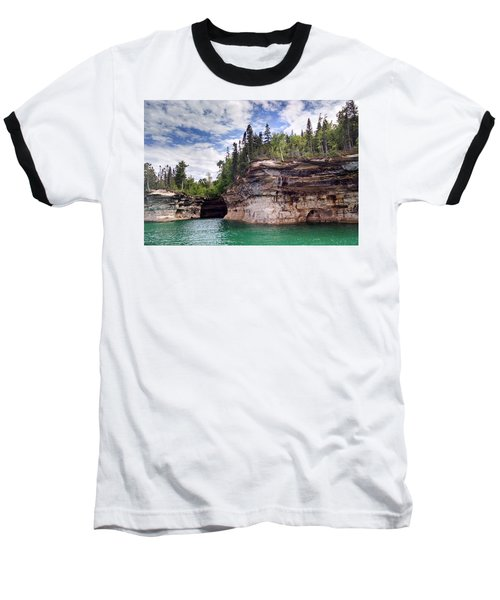 Pictured Rocks Baseball T-Shirt by Alan Casadei