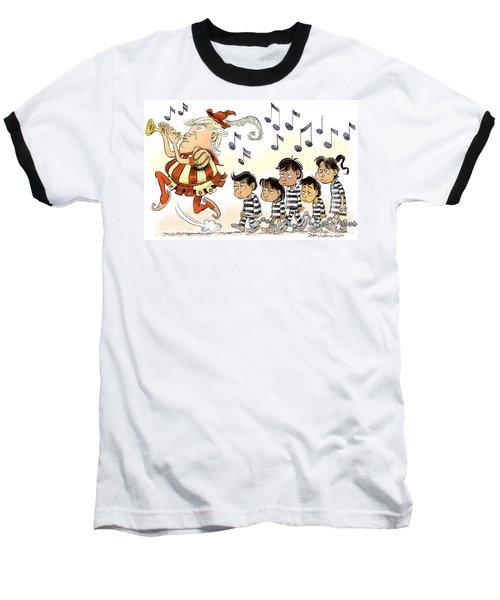 Pied Piper Trump And Infestation Baseball T-Shirt