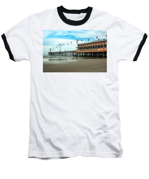 Pier Daytona Beach Baseball T-Shirt by Carolyn Marshall