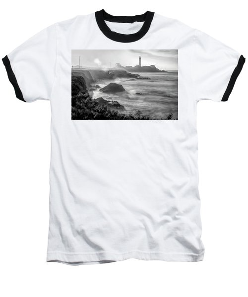 Pigeon Point Rocky Shore Baseball T-Shirt