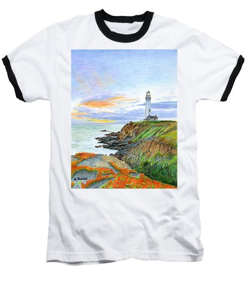 Pigeon Point Sunset Baseball T-Shirt by Mike Robles