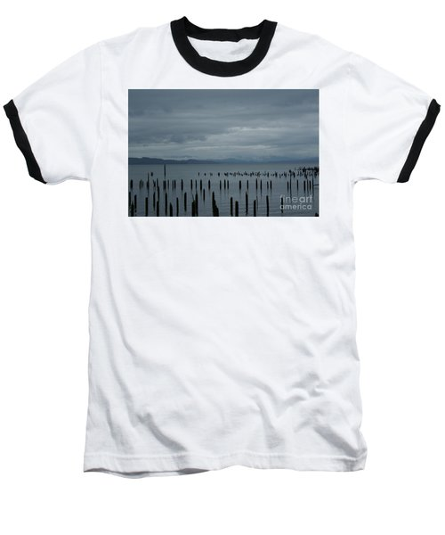 Pilings On Columbia River Baseball T-Shirt