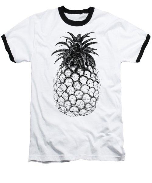 Pineapple Baseball T-Shirt by Birgitta