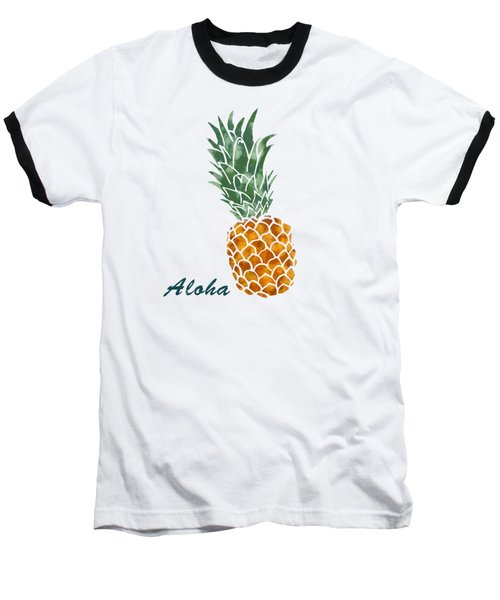 Pineapple Baseball T-Shirt by Jirka Svetlik
