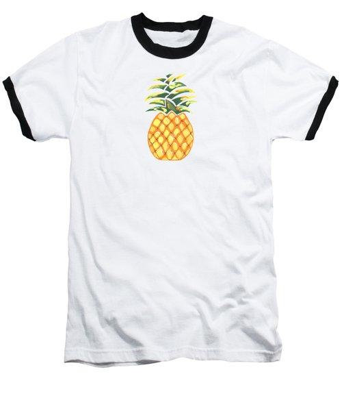 Pineapple Baseball T-Shirt by Kathleen Sartoris