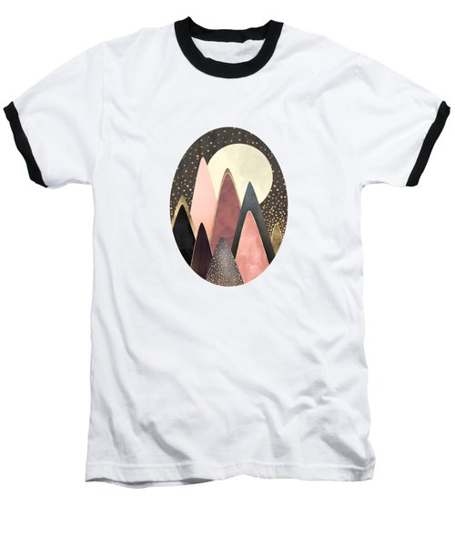 Pink And Gold Peaks Baseball T-Shirt