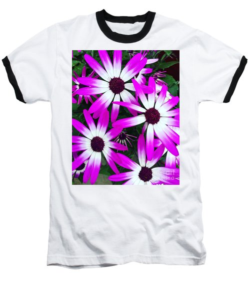 Pink And White Flowers Baseball T-Shirt