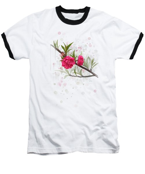 Hot Pink Blossom Baseball T-Shirt