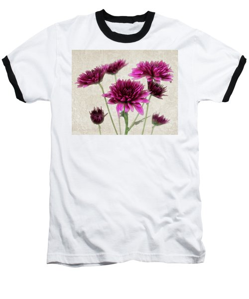 Pink Bouquet Baseball T-Shirt by Judy Vincent