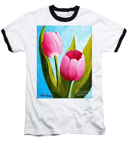 Pink Bubblegum Tulip II Baseball T-Shirt