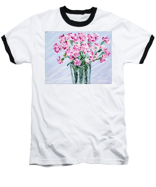 Pink Carnations In A Vase. For Sale Baseball T-Shirt