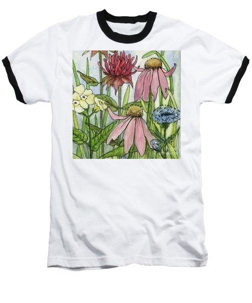 Pink Coneflower Baseball T-Shirt