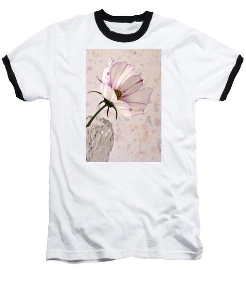 Pink Cosmo - Digital Oil Art Work Baseball T-Shirt by Sandra Foster