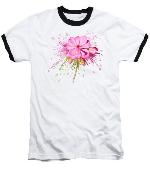Baseball T-Shirt featuring the painting Pink Eruption by Ivana Westin