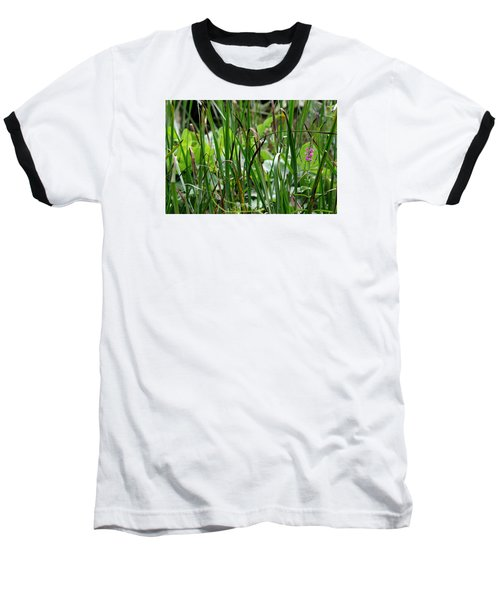 Pink Flower In The Grass Baseball T-Shirt
