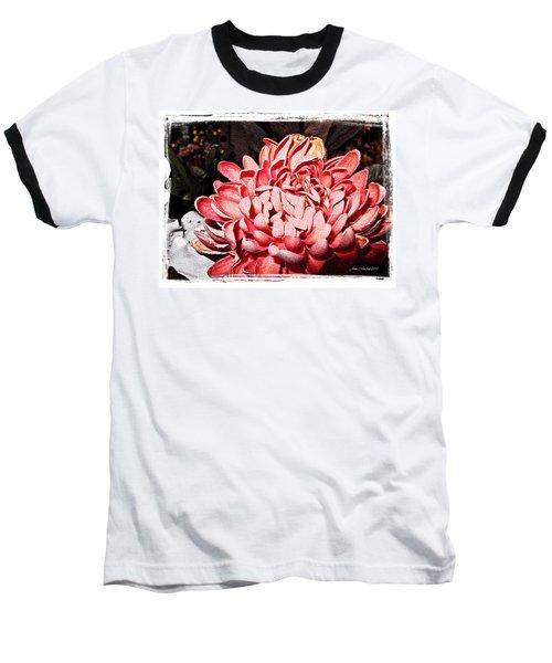 Baseball T-Shirt featuring the photograph Pink Flower by Joan  Minchak