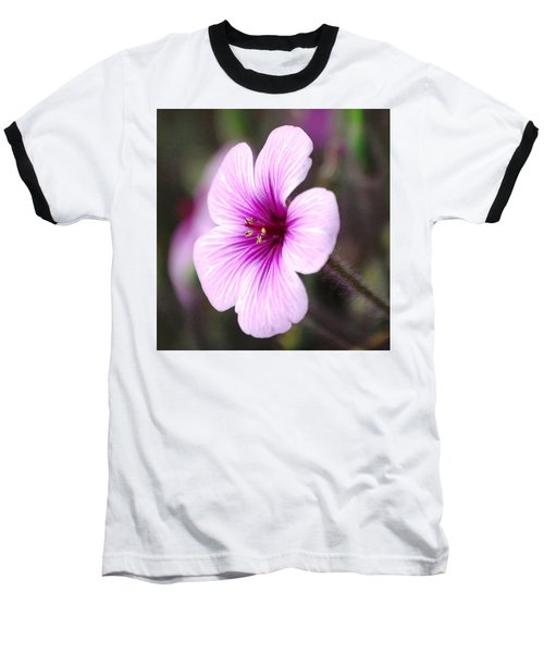 Pink Flower Baseball T-Shirt by Sumoflam Photography