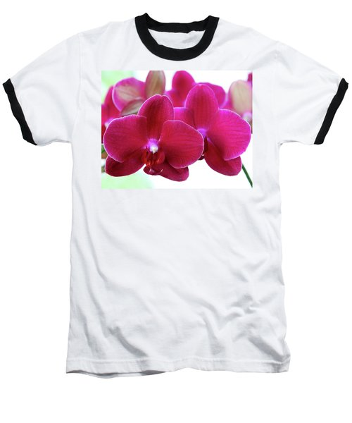 Red Orchid Baseball T-Shirt