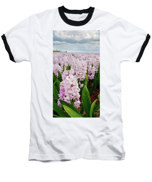 Pink Hyacinth  Baseball T-Shirt by Mihaela Pater