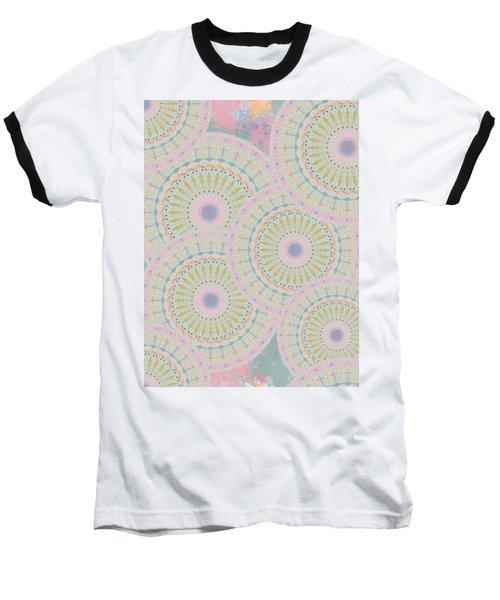 Pink Mandala Pattern Baseball T-Shirt